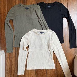 American Eagle Long Sleeve T-Shirt Bundle